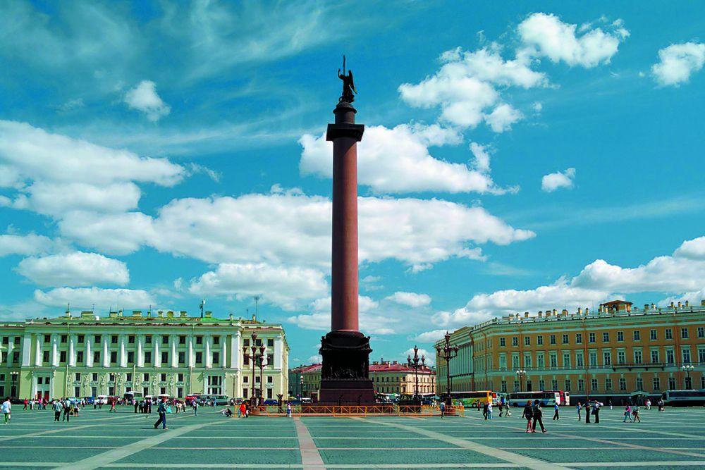 Александровская колонна, изображённая на имперской монете  1836